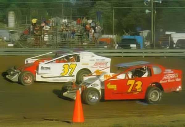 Jeremiah and Travis race side-by-side