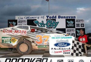 Jeremiah won the feature at Tri-City on May 21, 2006.