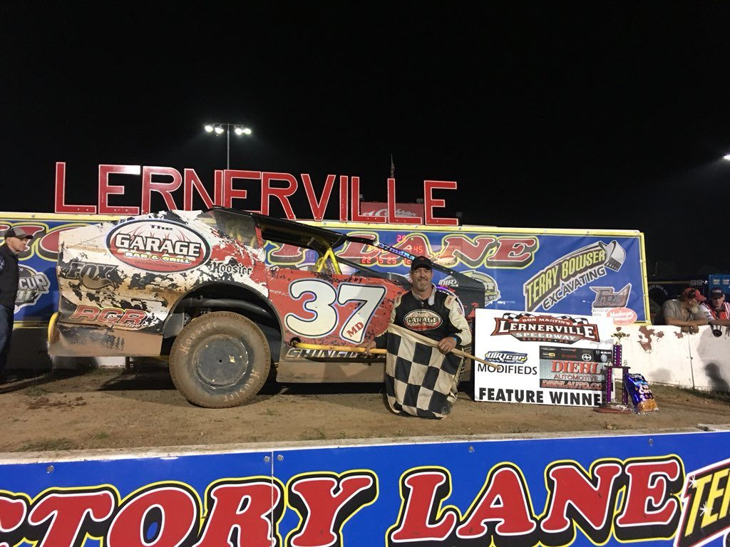 Jeremiah in Victory Lane at Lernerville Speedway on May 31, 2019.