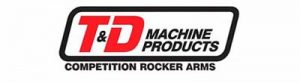 This image is the logo for T&D Competition Rocker Arms.