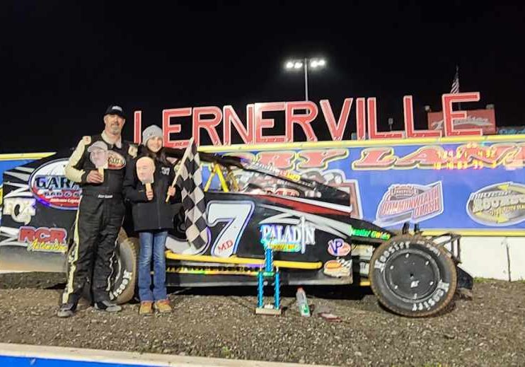 Jeremiah in Victory Lane on Lernerville's Opening Night, April 23, 2021